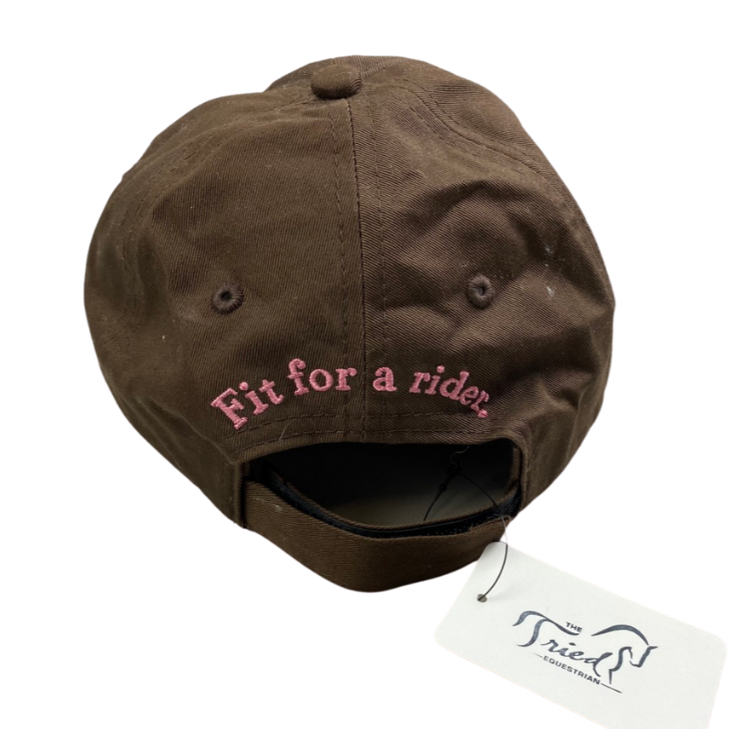Back of Ariat Cap in Brown/Pink