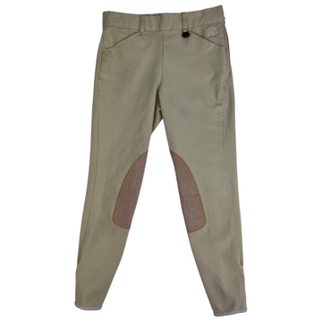 Ovation Side Zip Knee Patch Breeches in Tan - Children's 12