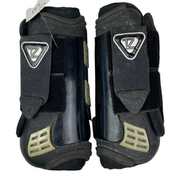 Back of Equilibrium Tri-Zone Eventing Boots in Black - Medium