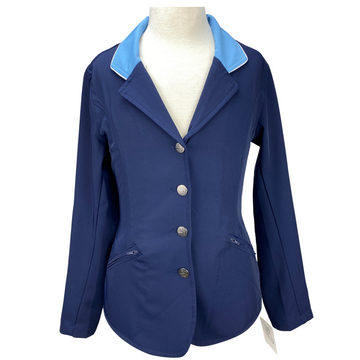 Front of Kathryn Lily Equestrian Tech Show Jacket in Navy