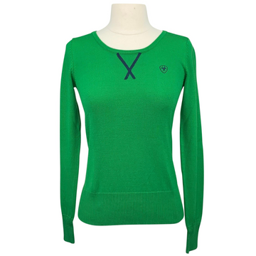 Ariat Sweater in Green/Stripe Patch