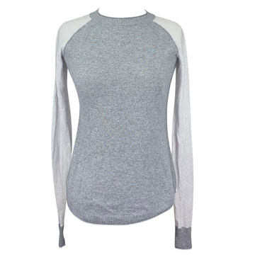 Noble Outfitters Homerun Crew Sweater in Colorblock Grey