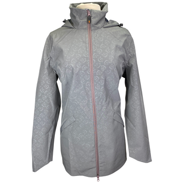 Kerrits Rain Stopper Jacket in Grey Horses - Women's Large