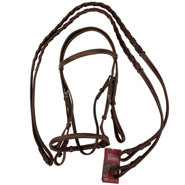Shires Raised Fancy Stitched Bridle in Oakbark