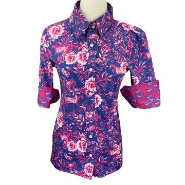 Ronner Button Up Shirt in Purple Floral