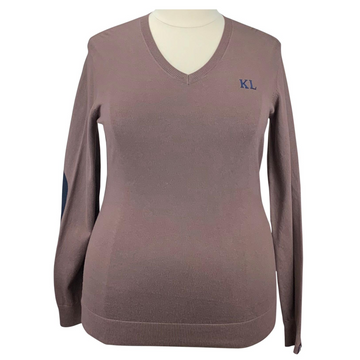 Kingsland Knitted V-Neck in Brown Iron