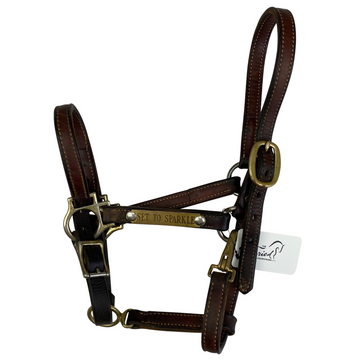 Adjustable Leather Halter in Brown