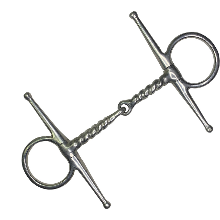 Twisted Full Cheek Snaffle Bit in Stainless Steel