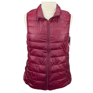 TKEQ EZ Packable Down Vest in Burgundy