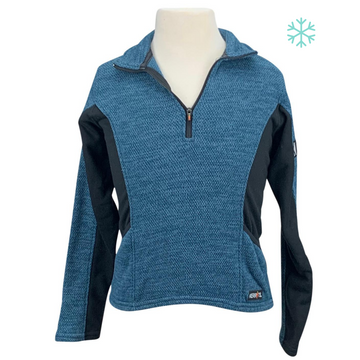 Kerrits Fleece Zip Neck in Teal/Black