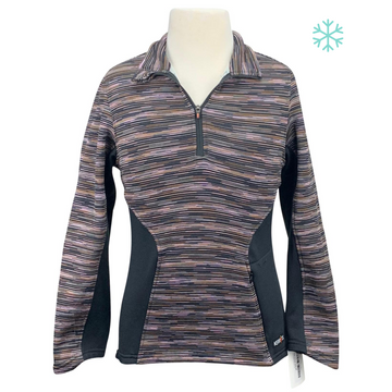 Kerrits Fleece Zip Neck in Multi Stripes/Black
