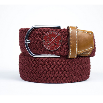 Hunt Club 'The Derby Belt' Limited Edition in Brandywine/Burgundy Emblem