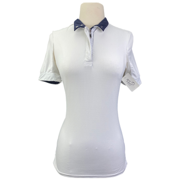 Kastel Short Sleeve Show Shirt in White - Women's Small