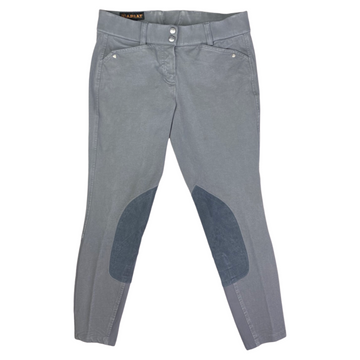 Front of Ariat Heritage Breeches in Grey.
