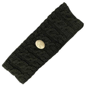 Kingsland Cable Knit Headband in Olive Green
