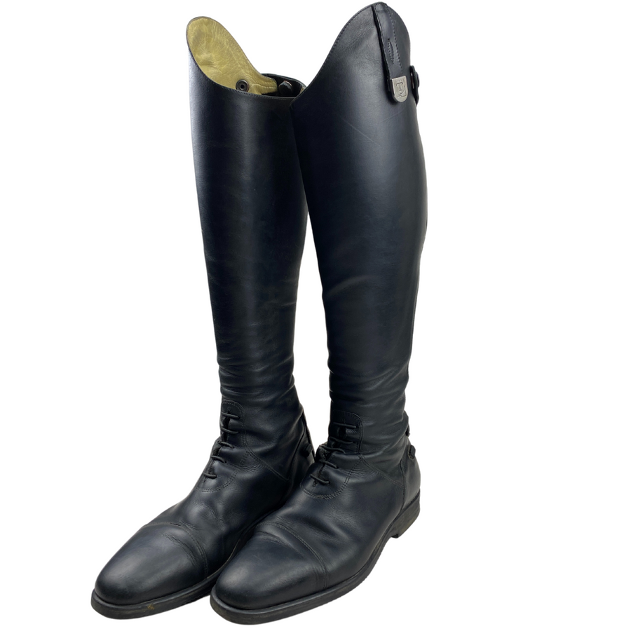 Front of Tucci Galileo Field Boots in Black