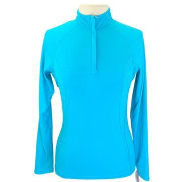 SmartPak Sunshield 1/4 Zip Shirt in Teal