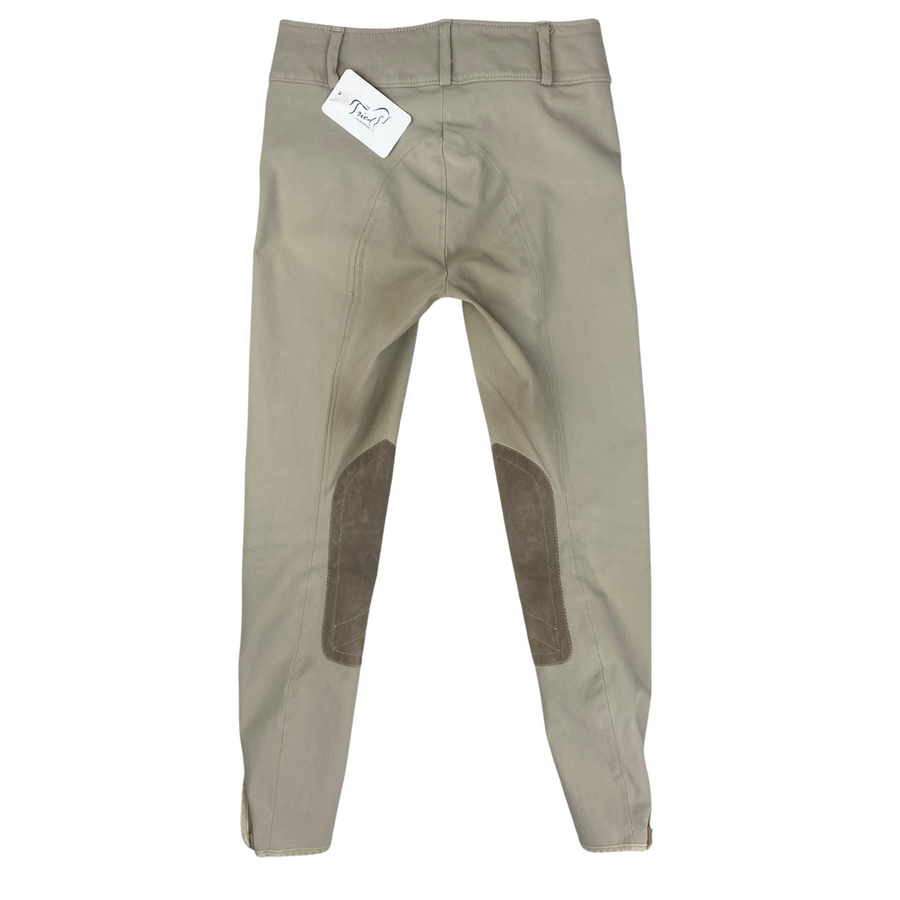 Back of Tailored Sportsman Trophy Hunter Breeches in Tan.