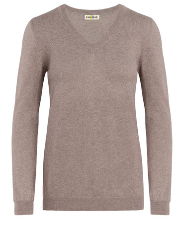 Callidae V-Neck Sweater in Sand