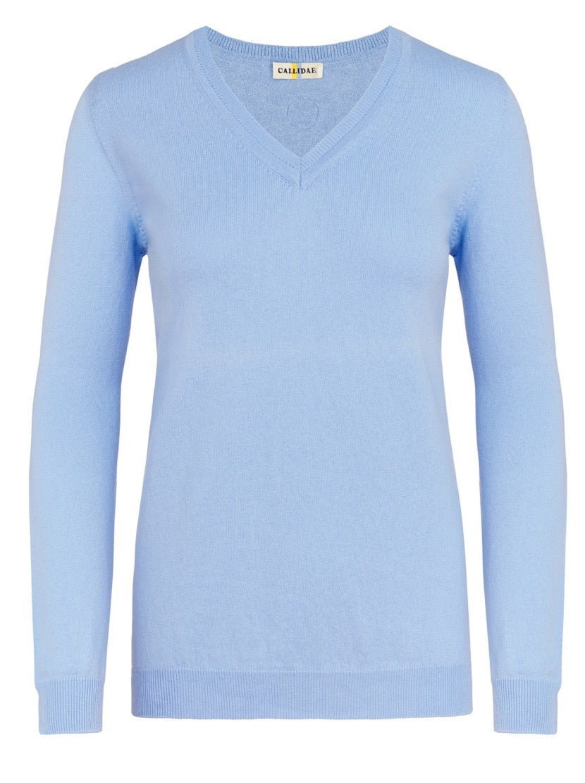 Callidae V-Neck Sweater in Flax