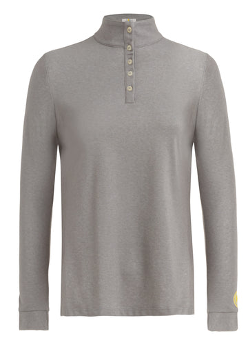 Callidae long sleeve polo in grey