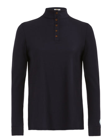 Callidae Long sleeve polo in navy