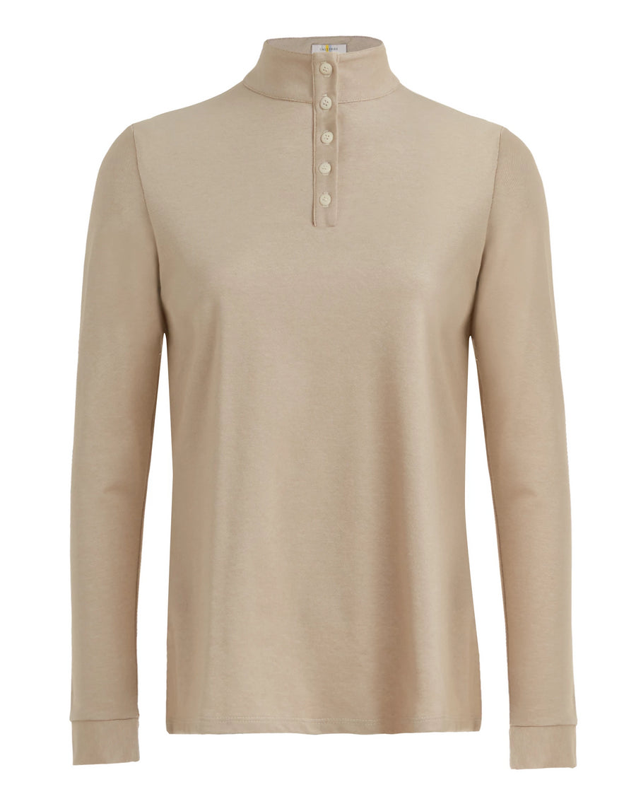 Callidae long sleeve polo in cottonwood
