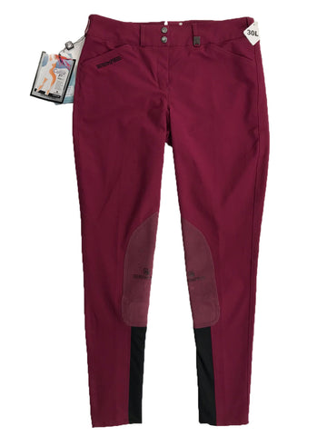 Romfh Champion Euroseat Breeches in Cranberry - Women's 30L | M/L