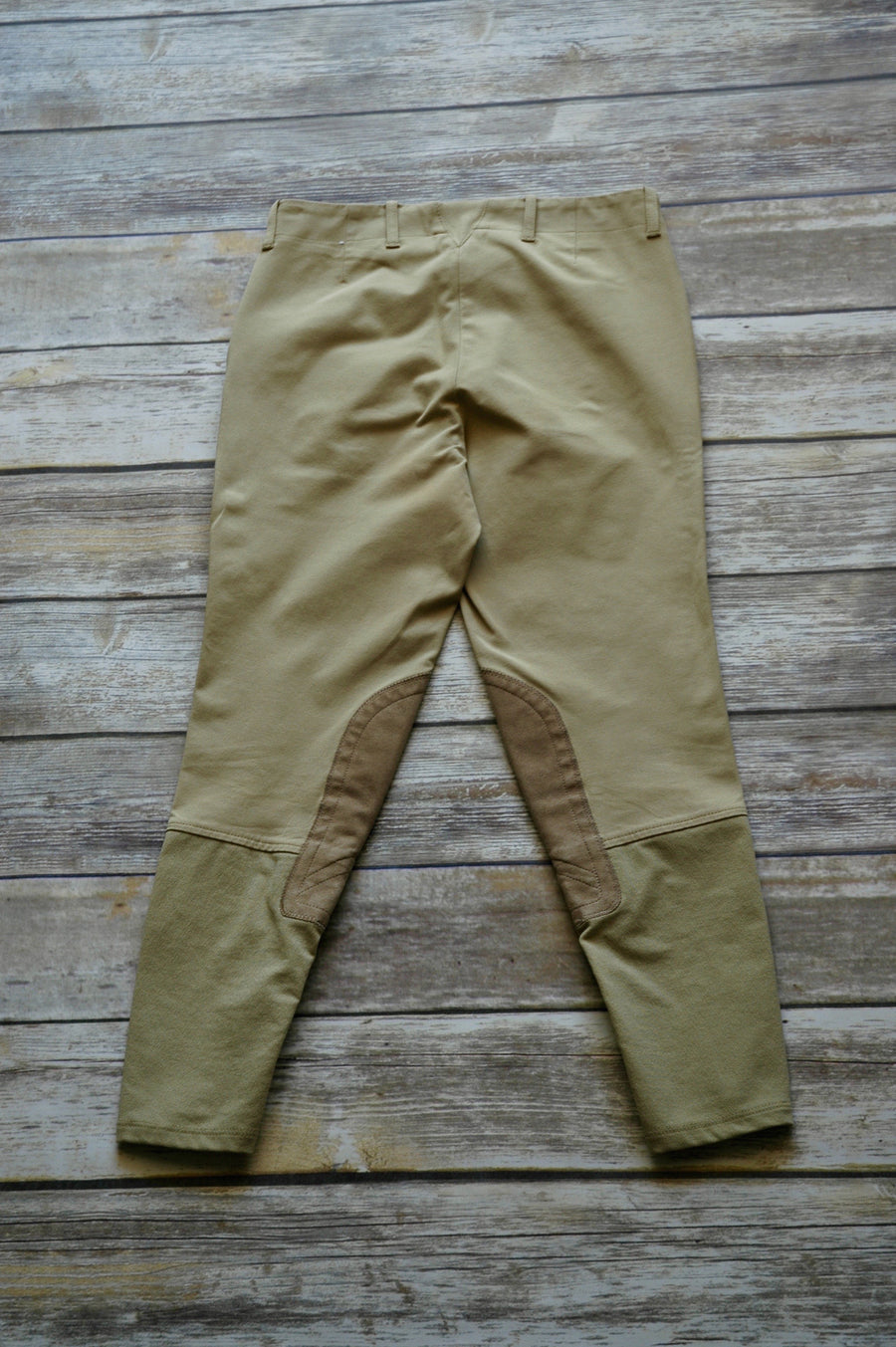 Ariat Side Zip Khaki Breeches - Back View