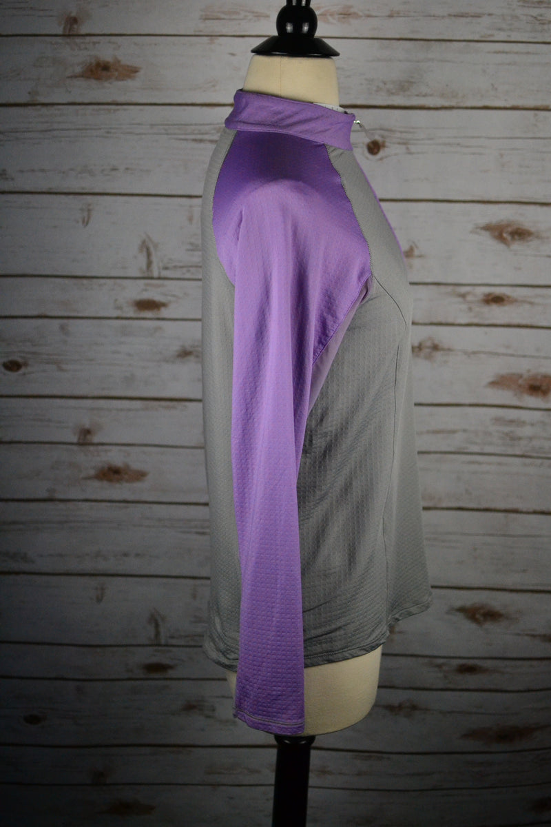 Bette and Court Colorblock Sun Shirt in Lavender/Grey - Women's Small