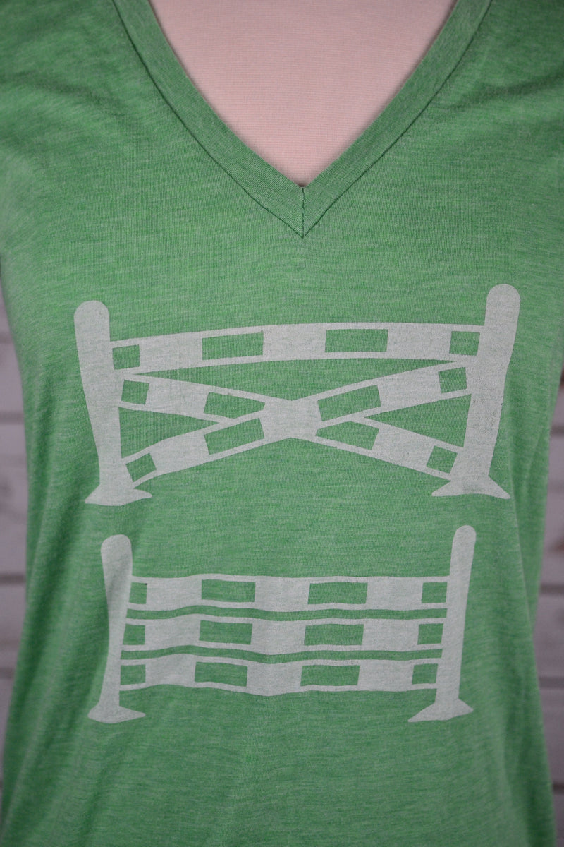 Spiced Equestrian One Stride Tee in Green - Women's Medium