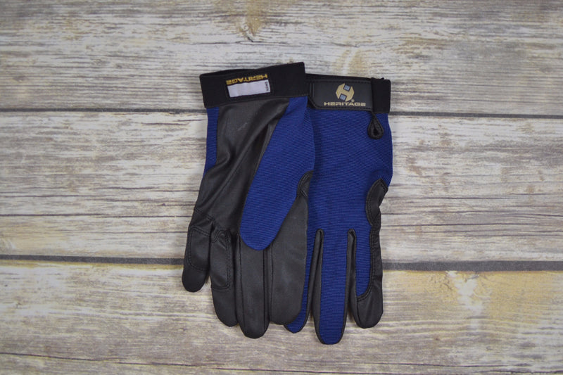 Heritage Performance Gloves in Navy - Size 6