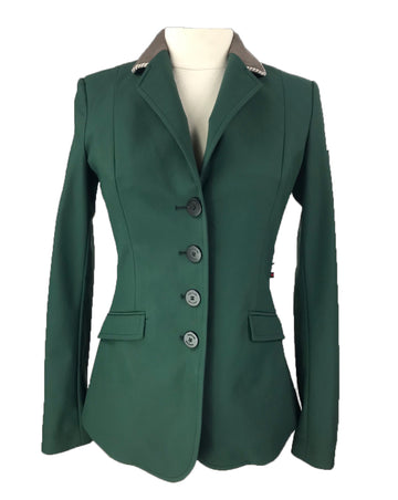 Equiline X-Cool Custom Hunt Coat in Green/Taupe - Women's IT38 | XS