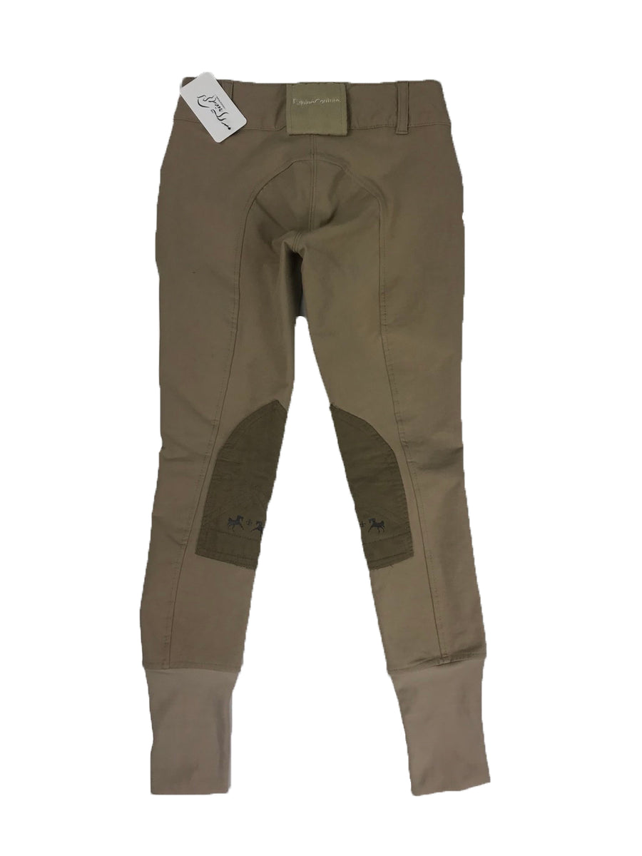 Equine Couture Coolmax Champion Breeches in Safari/Taupe -  Back View