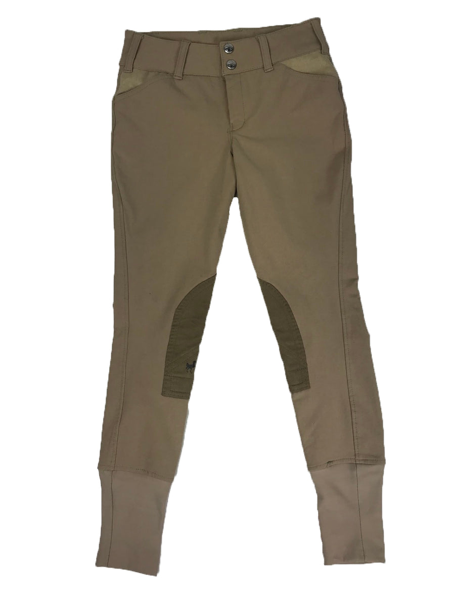 Equine Couture Coolmax Champion Breeches in Safari/Taupe -  Front View