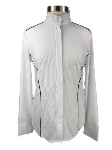 Horseware Platinum Ella Competition Show Shirt in White -  Front View