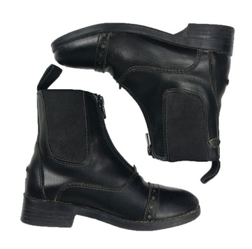 Equistar Synthetic Zip Paddock Boots in Black -  Overview