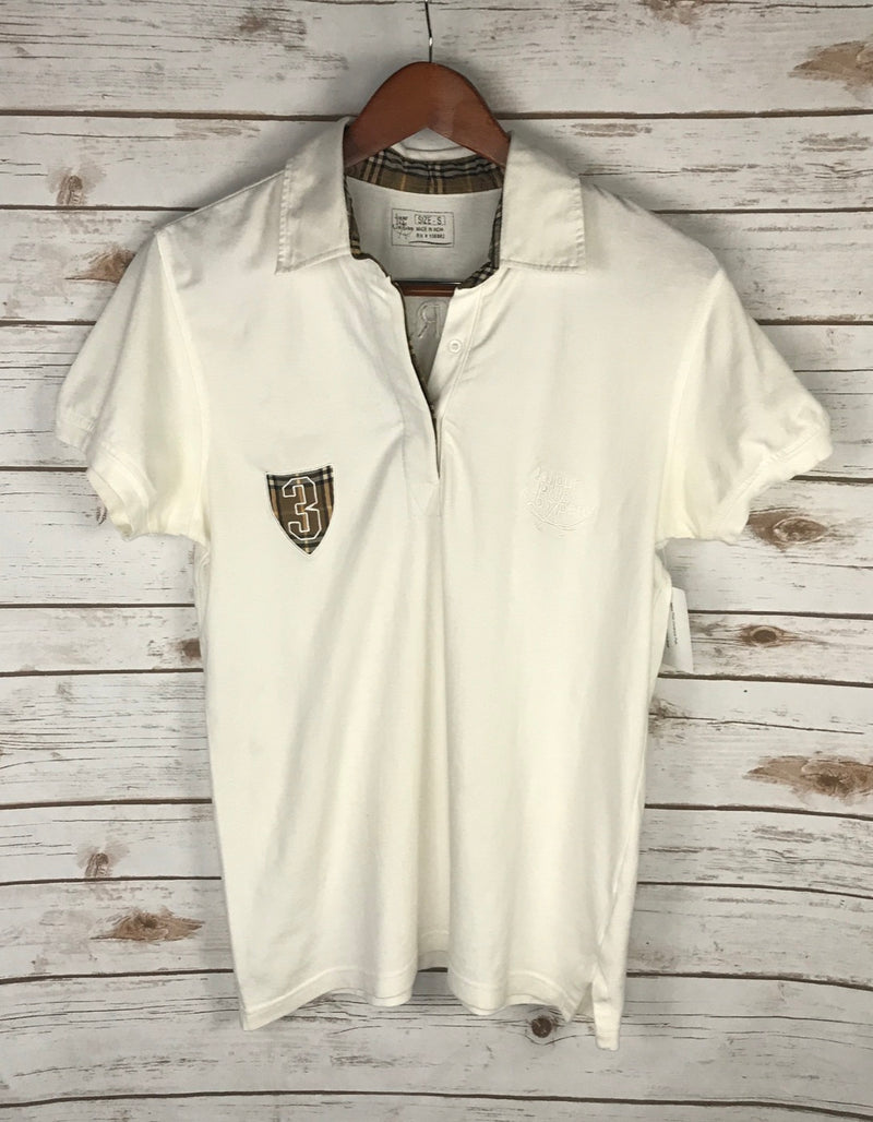 Jaipur Polo Company Polo in White/Plaid - Men's Small