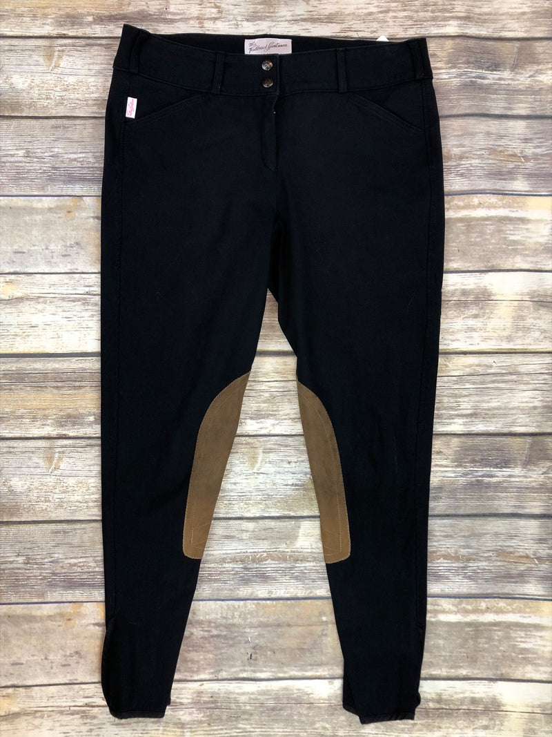 The Tailored Sportsman Trophy Hunter Breeches in Black /Tan Patch - Women's 32L