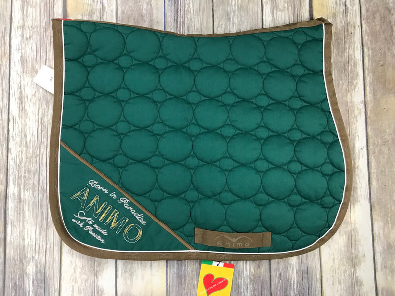 Animo Saddle Pad in Green - One Size