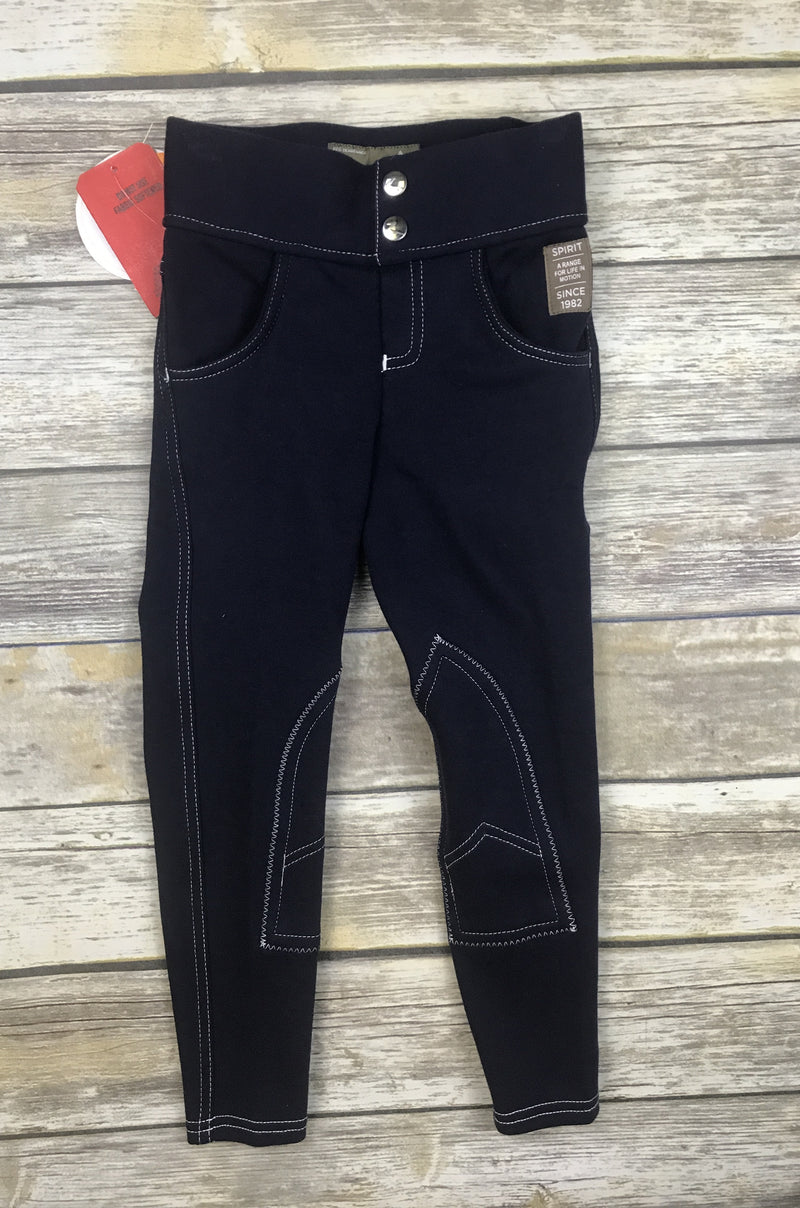 Horze Paige Pull-On Breeches in Navy - Child's Small
