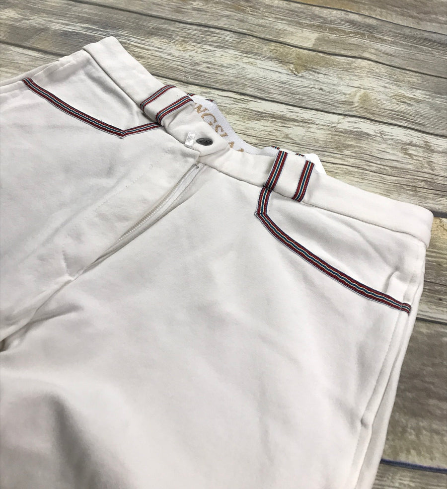 Kingsland Jessica Breeches in White -  Close Up Front View