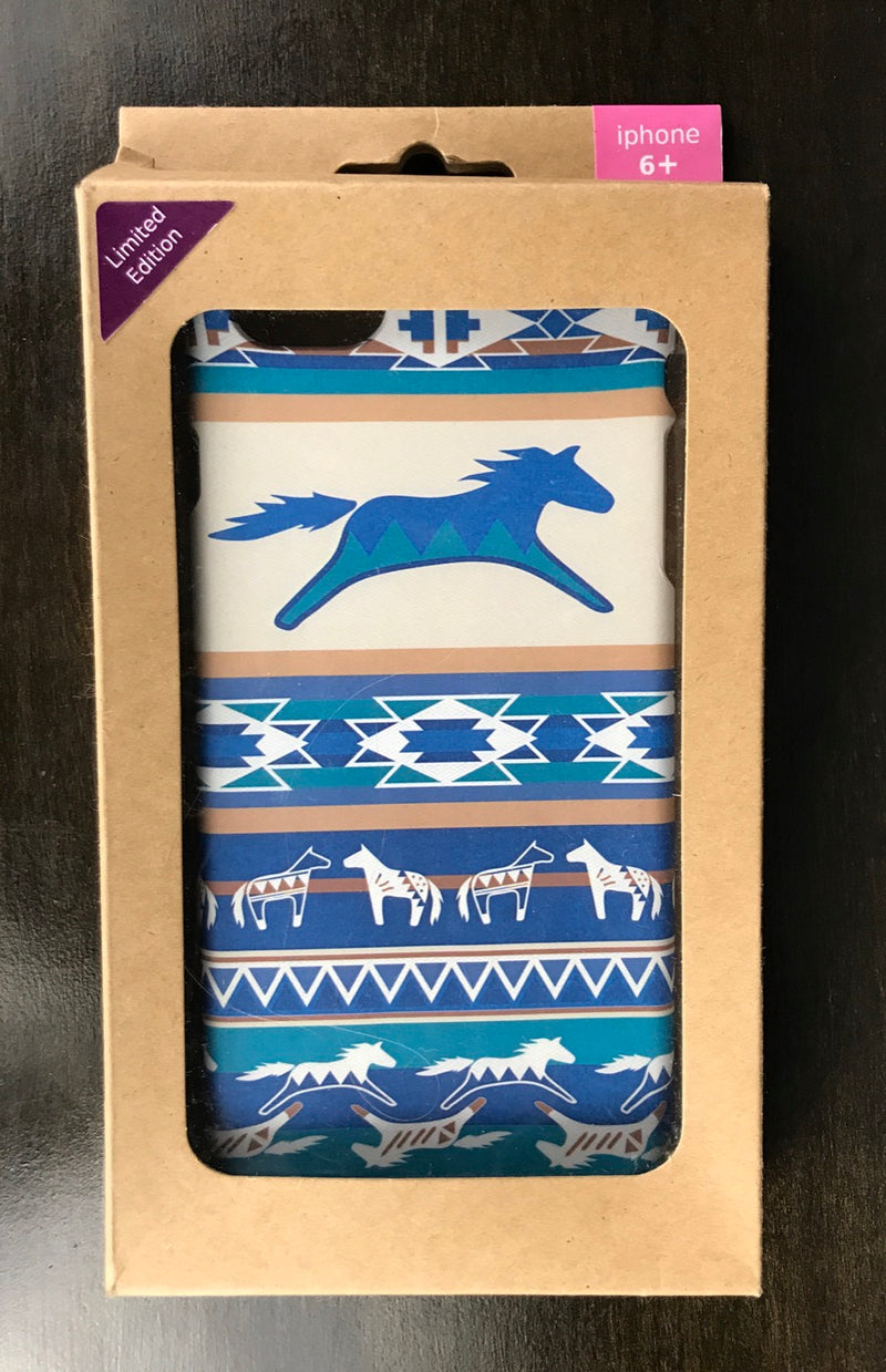 Spiced Equestrian Phone Case in Blue Southwest - iPhone 6+