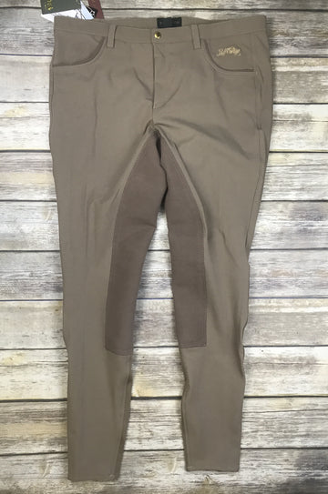 B Vertigo Mens Michael Full Seat Breeches- Front View