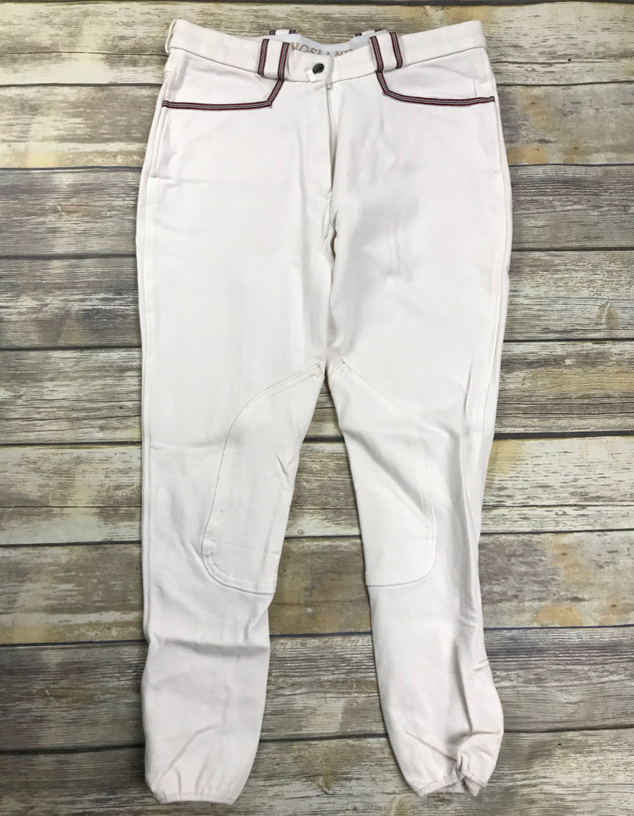Kingsland Jessica Breeches in White -  Front View