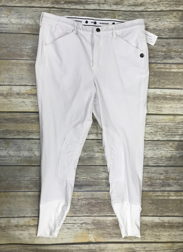 Manfredi Del Mar Breech in White - Men's 46R