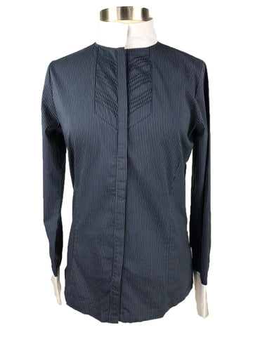 Horseware Platinum Competition Shirt in Denim Pinstripe - Front View