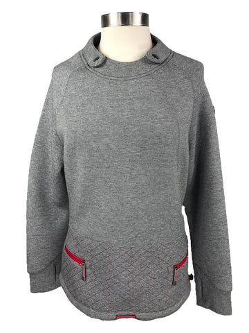 Horseware Platinum Crew Neck Pullover in Grey - Front View