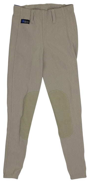 front view of Irideon Cadence Stretch-Cord Tights in Tan