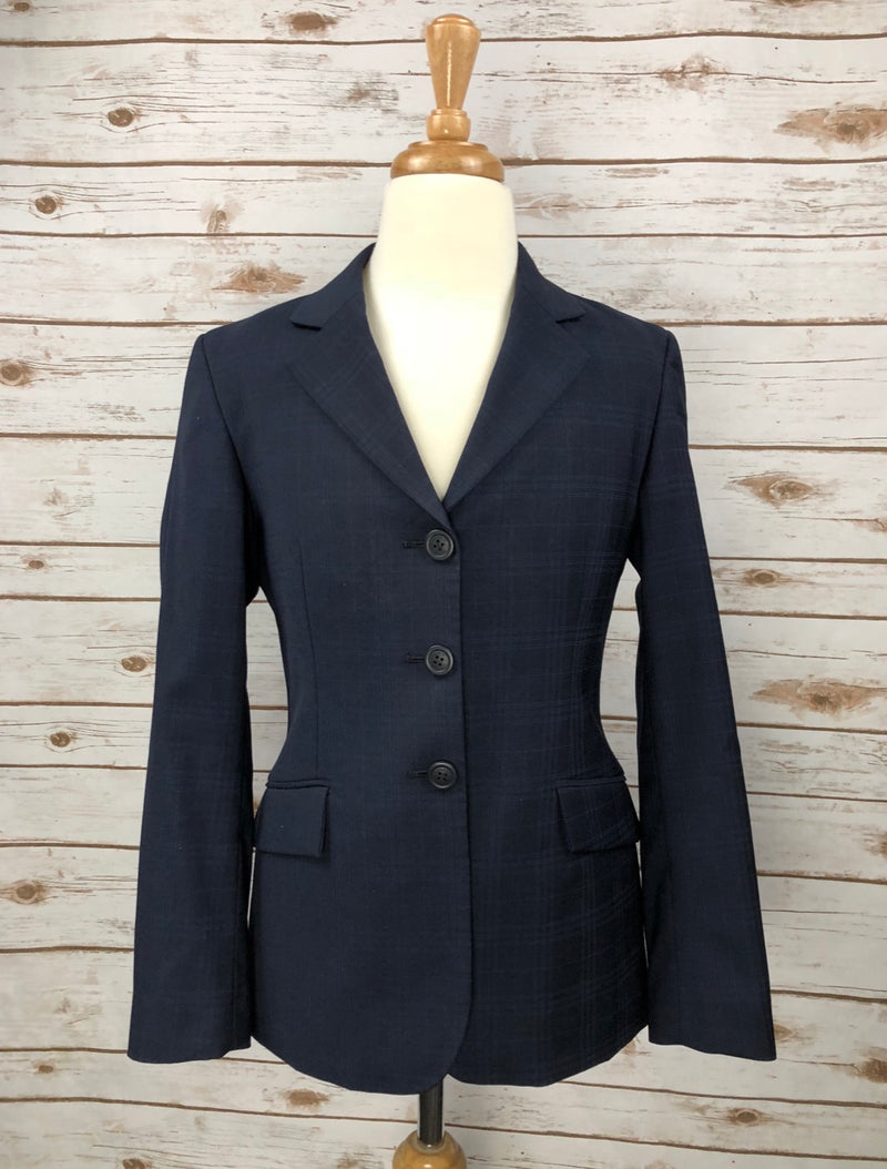 RJ Classics Prestige Collection Hunt Coat in Navy Plaid - Children's 14R